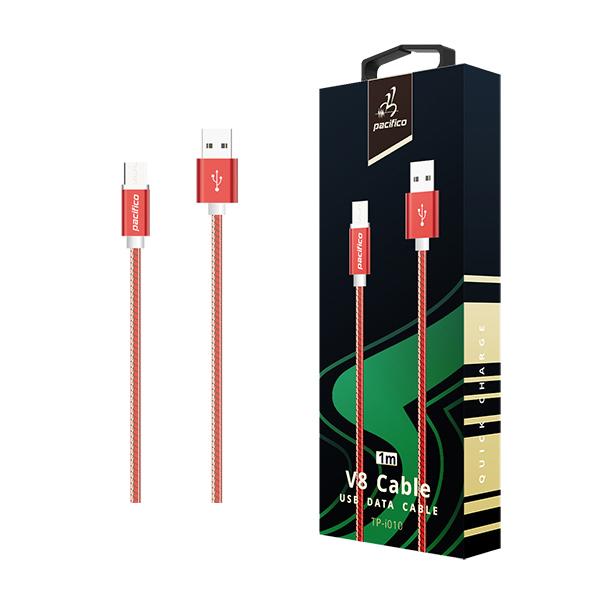 Cable micro usb/v8 (1m) rojo - gama premium - tp i010 1