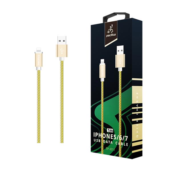 Cable iphone 6/7/8/x/11 (1m) amarillo gama premium – tp i011 1