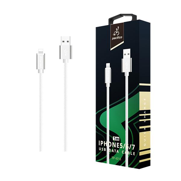 Cable iphone 6/7/8/x/11 (1m) blanco gama premium – tp i016 1
