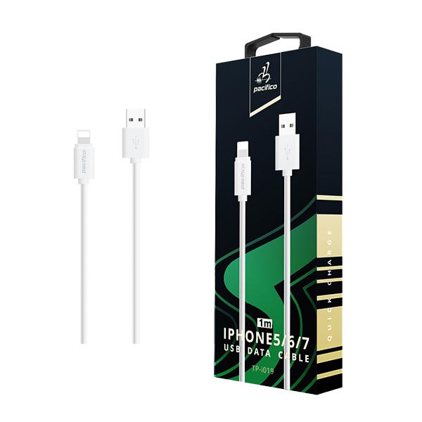 Cable iphone 6/7/8/x/11 (1m) blanco gama premium – tp i019 1