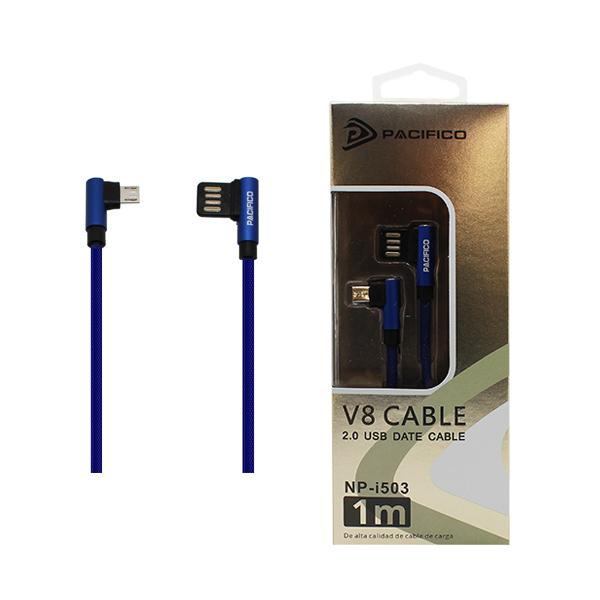 Cable micro usb/v8 – usb (1m) azul - np i503 1