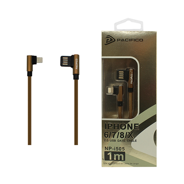 Cable iphone – usb (1m) marrón - np i505 1