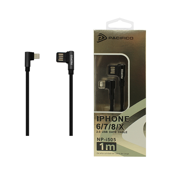 Cable iphone – usb (1m) negro - np i505 1