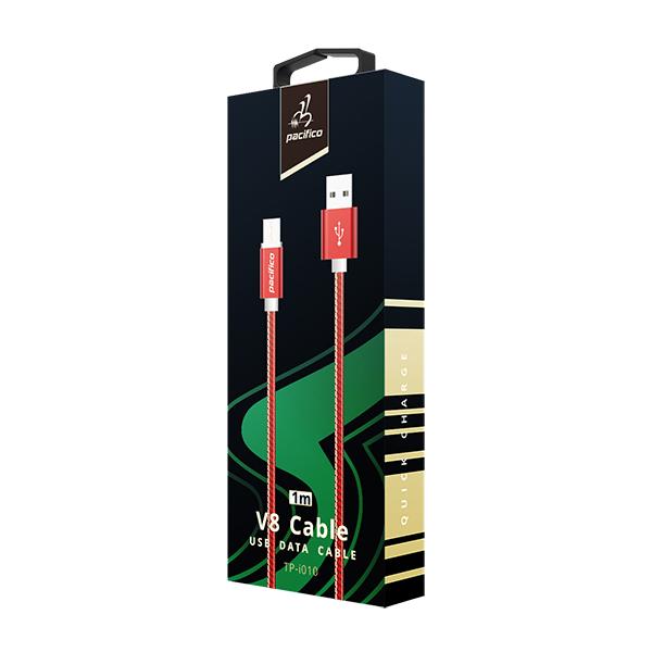 Cable micro usb/v8 (1m) rojo - gama premium - tp i010 3
