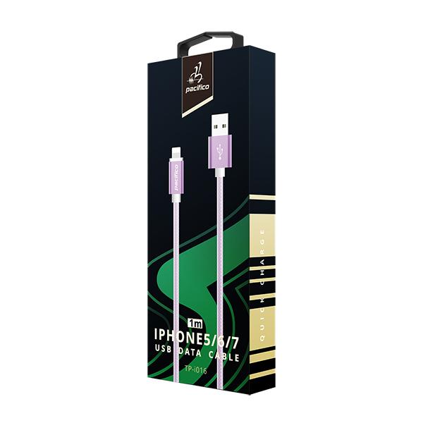 Cable iphone 6/7/8/x/11 (1m) morado gama premium – tp i016 3