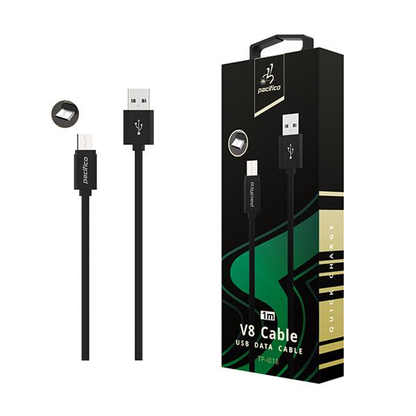 Cable micro usb/v8 (1m) negro - gama premium – tp-i018 1
