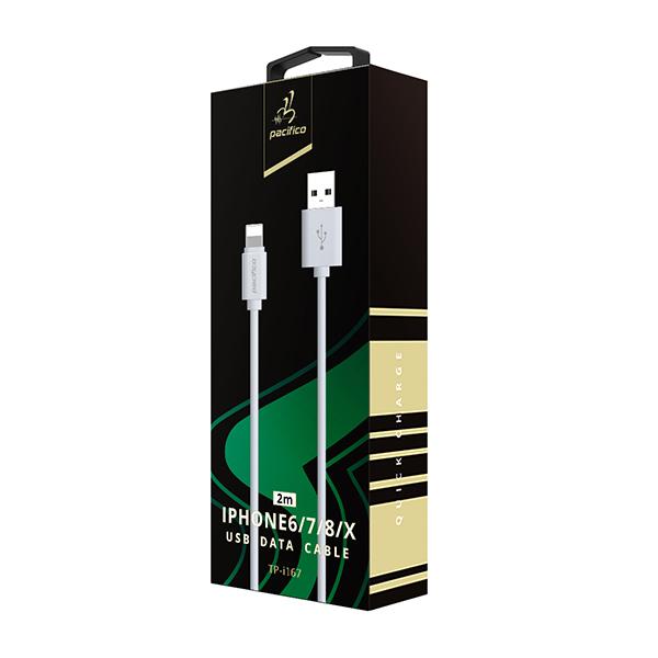 Cable iphone 6/7/8/x/11 (2m) gama premium – tp i167 3