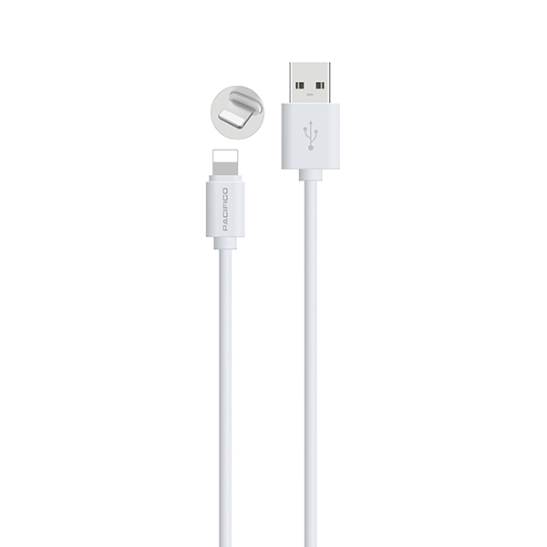 Cable iphone 6/7/8/x/11 (1m) blanco - np c195/i195 2