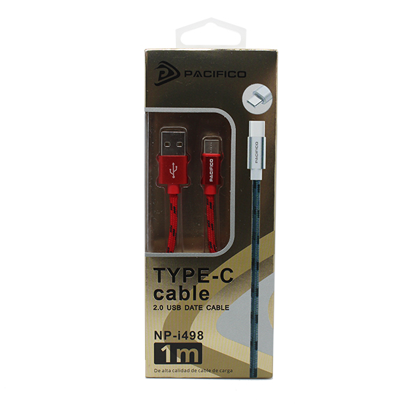 Cable tipo c (1m) rojo – np i498 3