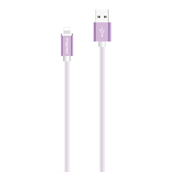 Cable iphone 6/7/8/x/11 (1m) morado gama premium – tp i016 2