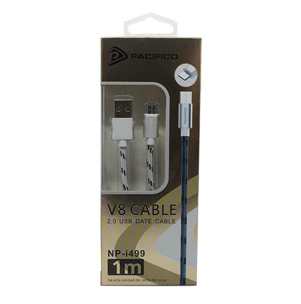 Cable micro usb/v8 (1m) plata – np i499 3