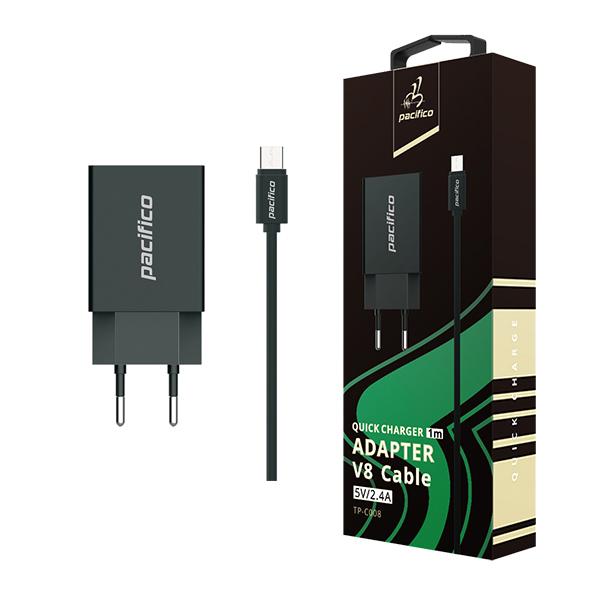 Cargador micro usb/v8 - negro - gama premium tp-c008 1