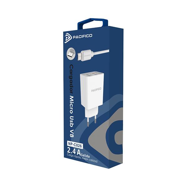 Cargador micro usb/v8 - np-c826 2