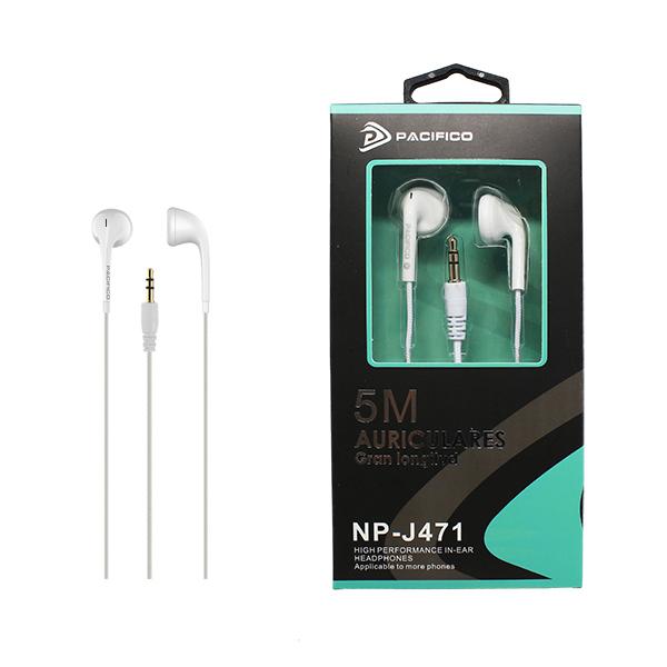 Auriculares de 5m np-j471 blanco 1