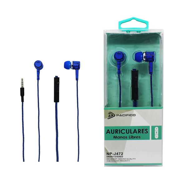 Auriculares np-j472 azul 1