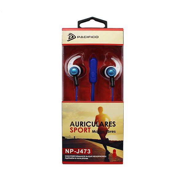Auriculares deportivos np j473 - azul 2