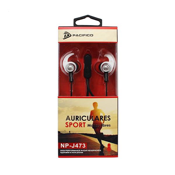 Auriculares deportivos np j473 - negro 2