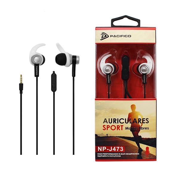 Auriculares deportivos np j473 - negro 1
