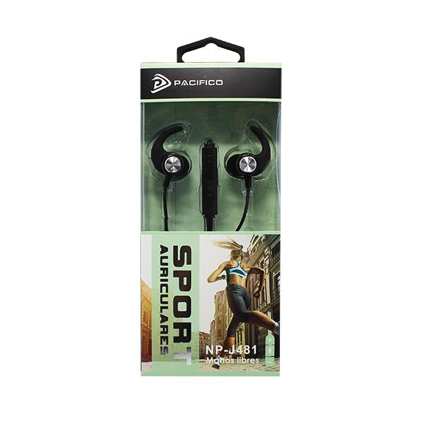 Auriculares deportivos np-j481 negro 3