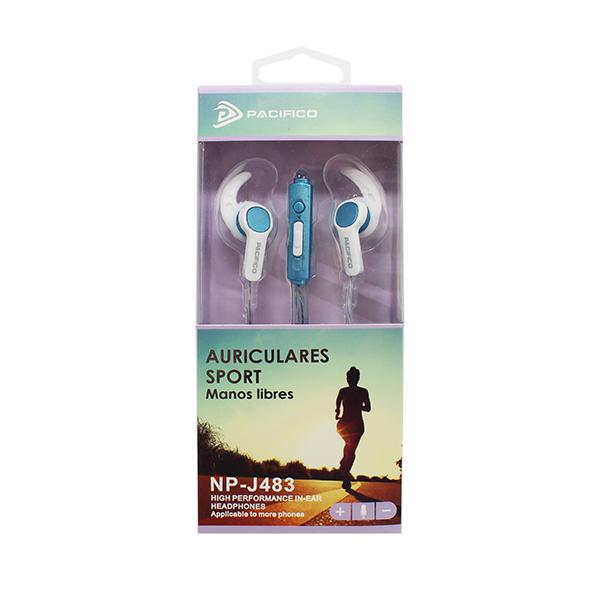 Auriculares deportivos np-j483 azul 2