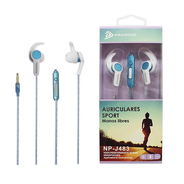 Auriculares deportivos np-j483 azul 1