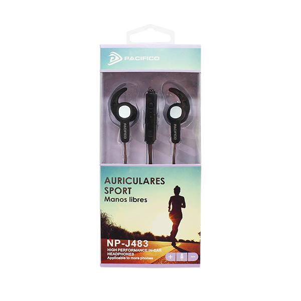 Auriculares deportivos np-j483 negro 2