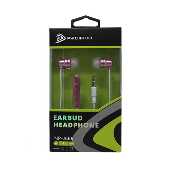Auriculares con microfono np-j666-rosa 3