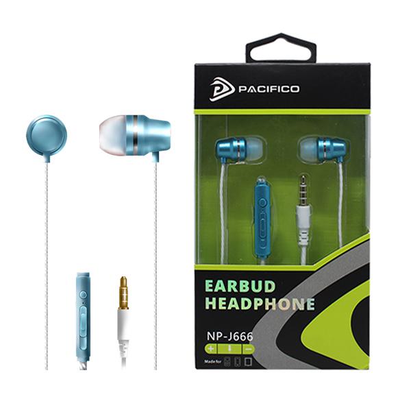 Auriculares con micrófono np-j666 – azul 1