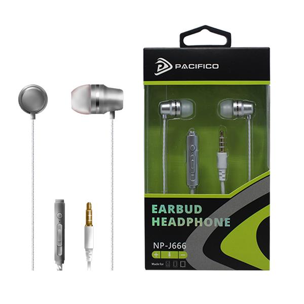 Auriculares con micrófono np-j666-plata 1