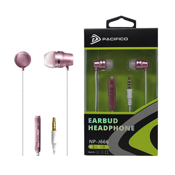 Auriculares con microfono np-j666-rosa 1