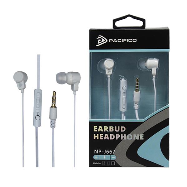 Auriculares con micrófono np-j667 – blanco 1