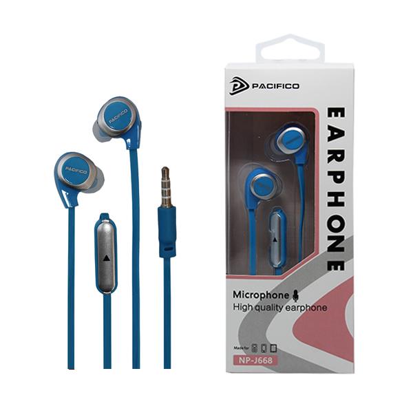 Auriculares con micrófono np-j668 – azul 1