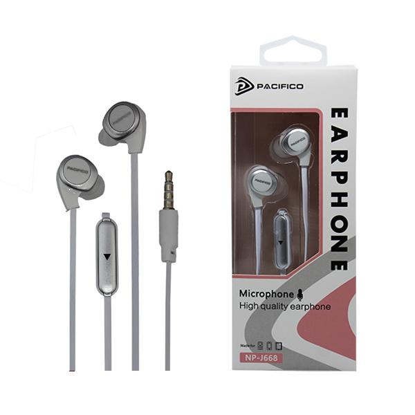 Auriculares con micrófono np-j668 – blanco 1