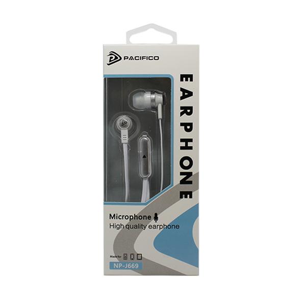 Auriculares con micrófono np-j669 – blanco 3