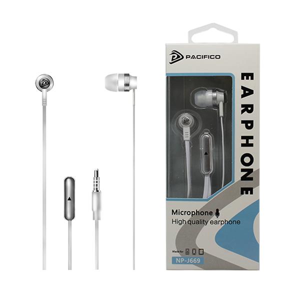 Auriculares con micrófono np-j669 – blanco 1
