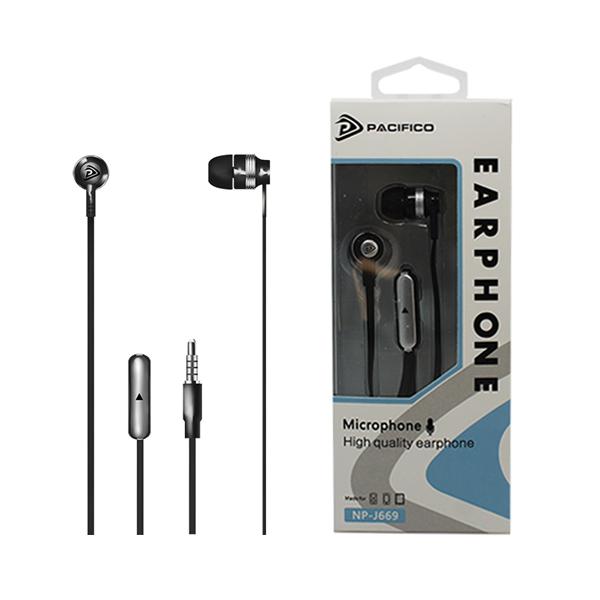 Auriculares con micrófono np-j669 – negro 1