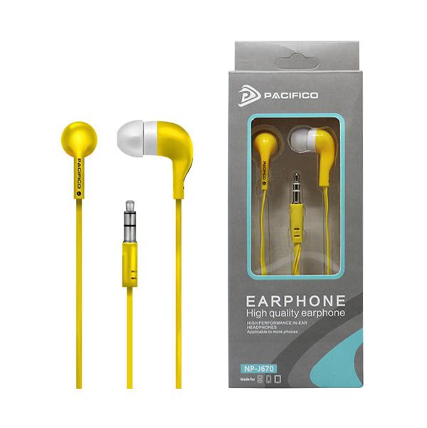Auriculares np-j670 – amarillo 1