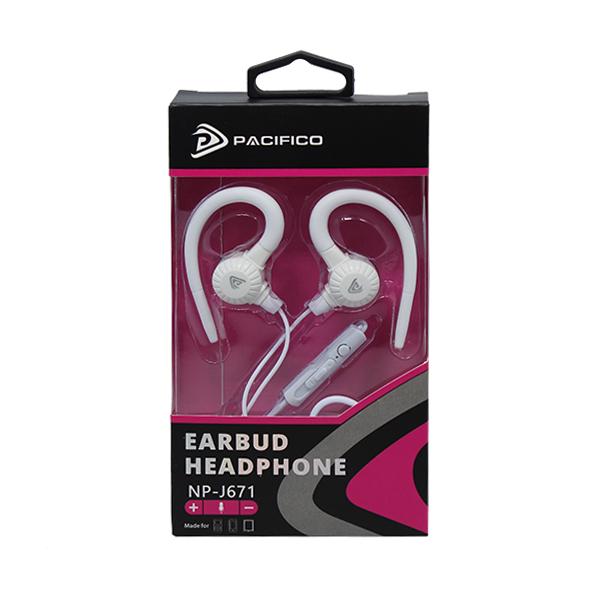 Auriculares con micrófono np-j671-blanco 3