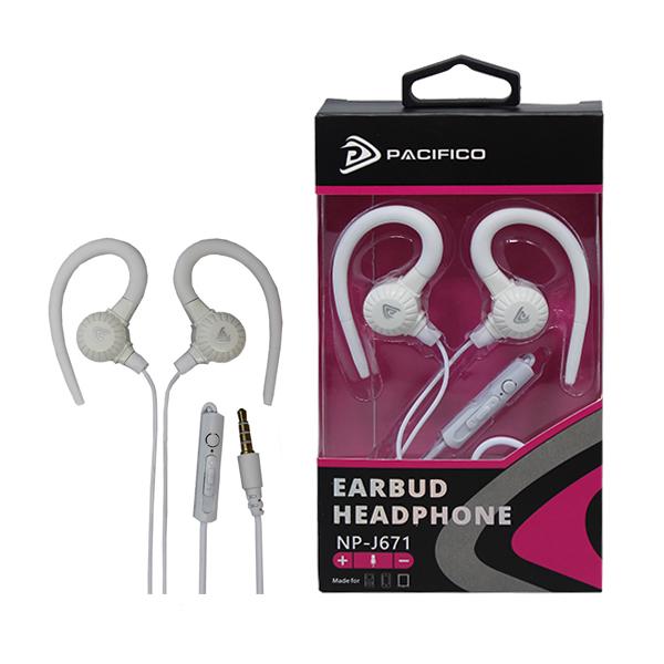 Auriculares con micrófono np-j671-blanco 1