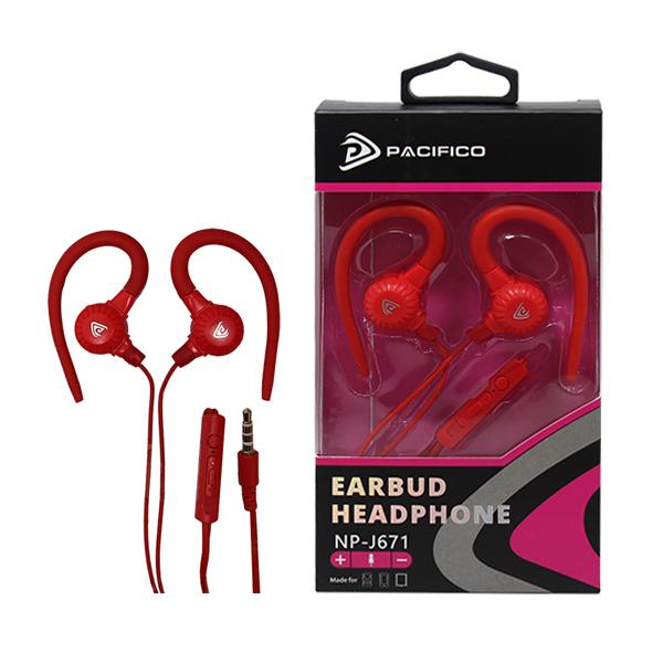 Auriculares con micrófono np-j671- rojo 1