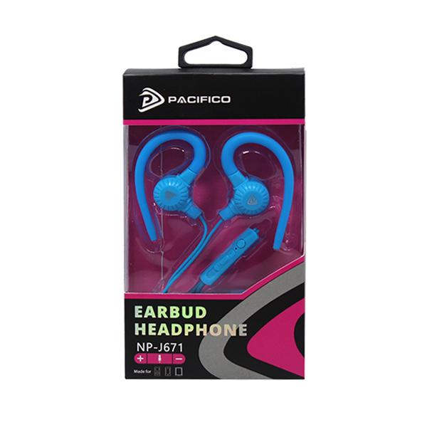 Auriculares con micrófono np-j671- azul 2