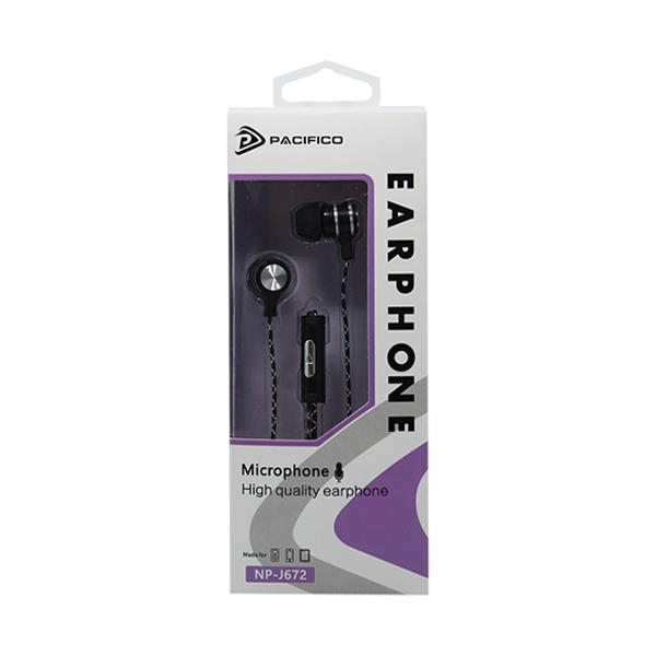 Auriculares con micrófono np-j672 – negro 3