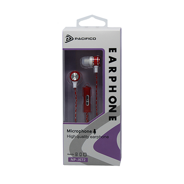 Auriculares con micrófono np-j672 – rojo 3