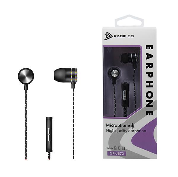 Auriculares con micrófono np-j672 – negro 1