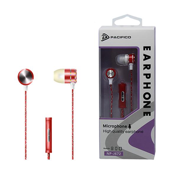 Auriculares con micrófono np-j672 – rojo 1