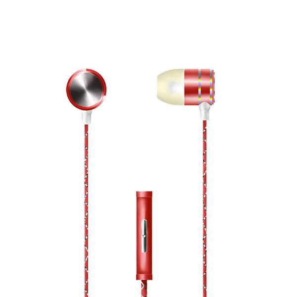 Auriculares con micrófono np-j672 – rojo 2