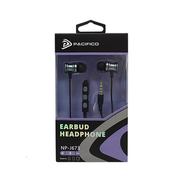 Auriculares con micrófono np-j673 – gris 3
