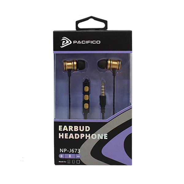 Auriculares con micrófono np-j673 – dorado 3