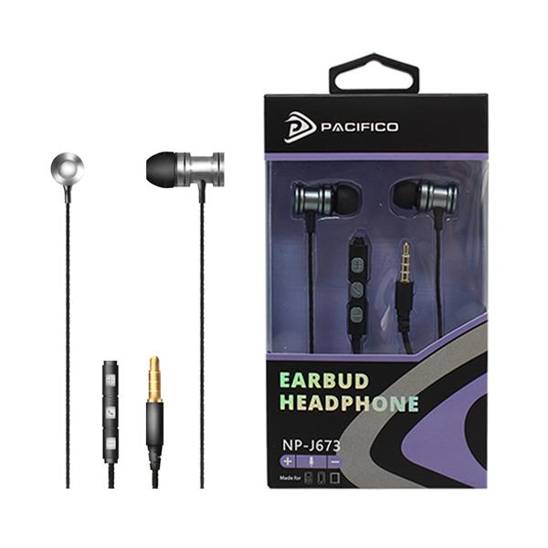 Auriculares con micrófono np-j673 – gris 1