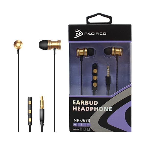 Auriculares con micrófono np-j673 – dorado 1